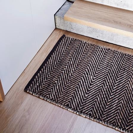 Armadillo Charcoal & Natural Serengeti Weave Entrance Mat