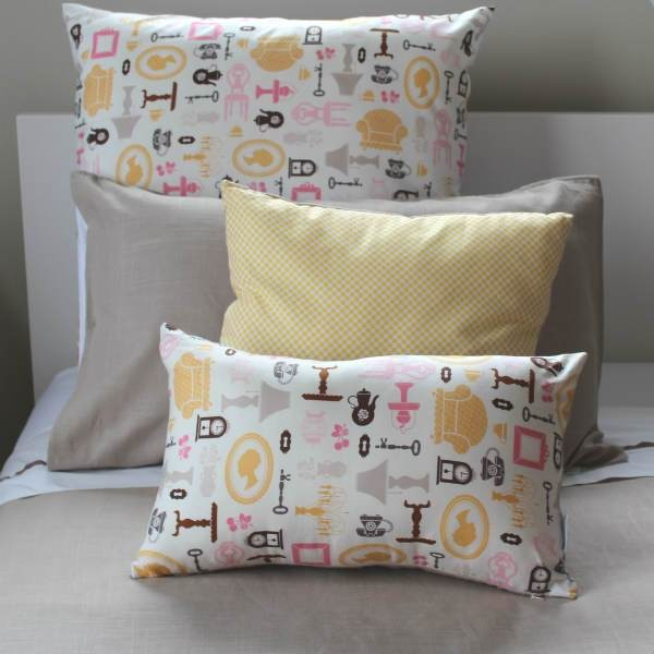 Silhouette Euro Pillowcase, NZ made bed linen, cotton bed linen