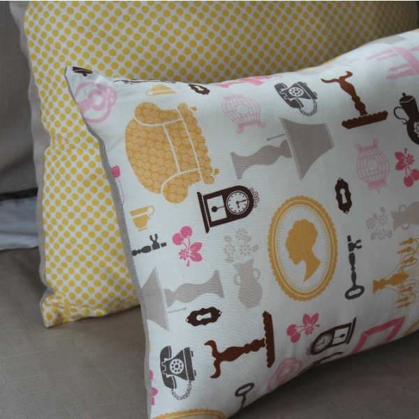 Silhouette Cushion Cover, Cotton cushion, NZ made cushion cover