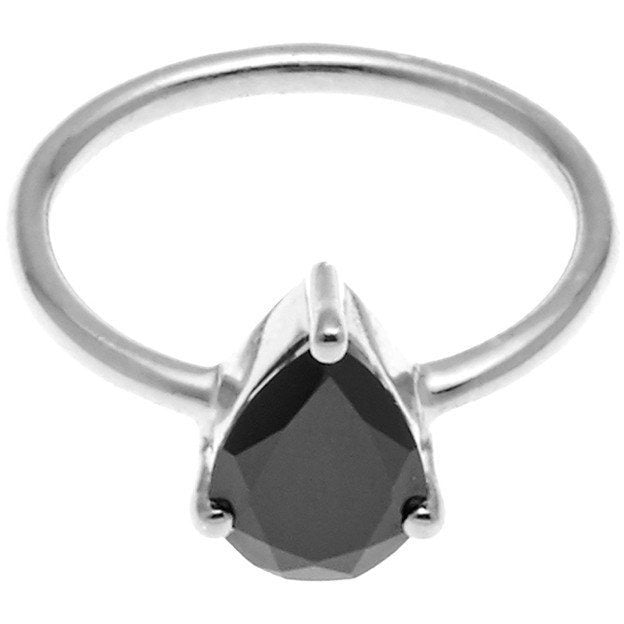 On Point Ring - Black Spinel Rings Sml,Med,Large silk & STEEL