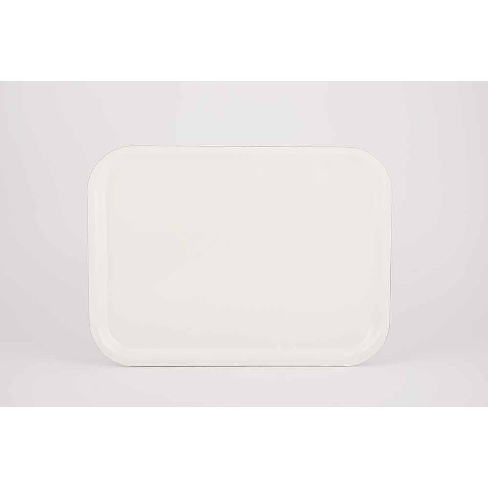 Rectangle Tray Large - Black/White/Tropica Serveware White The Tray Shop
