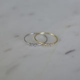 Three Rock Ring Clear - 2 Colours Rings Silver / S,Gold / S,Silver / M,Gold / M,Silver / L,Gold / L S O P H IE