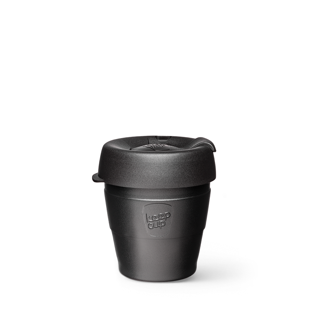 KeepCup Thermal, Reusable Thermal Cup. Keep Cup Auckland Reseller, Thermal Reusable Extra Small 6oz Cup Black
