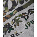 Superdry Vintage Logo Layered Camo Tee - Grey Marle