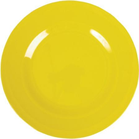 Rice Melamine Dinner Plate - Yellow