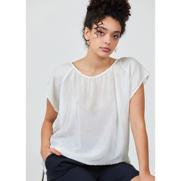 Camille Top - White Womens Clothing 8,10,12,14 Dalston