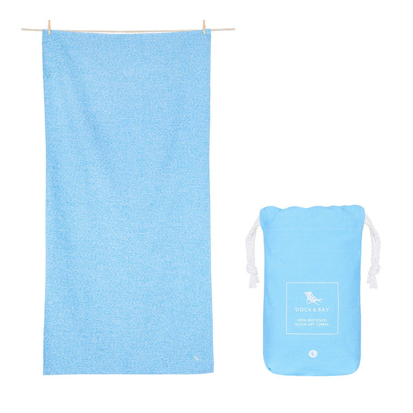 100% Recycled Fitness Towel Essential Collection - Lagoon Blue Towels + Cloths S Dock & Bay
