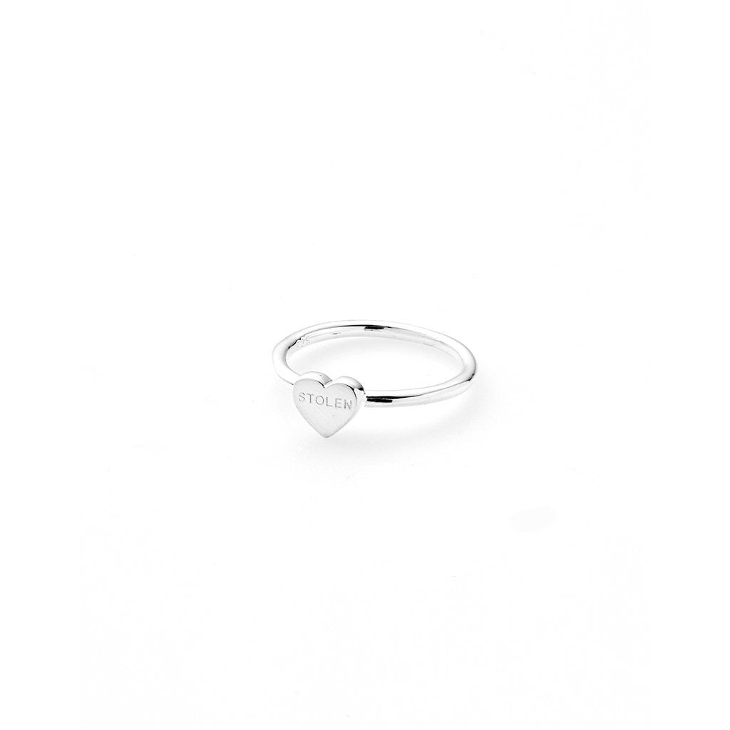 Baby Stolen Heart Ring - Silver Rings S,M,L Stolen Girlfriends Club