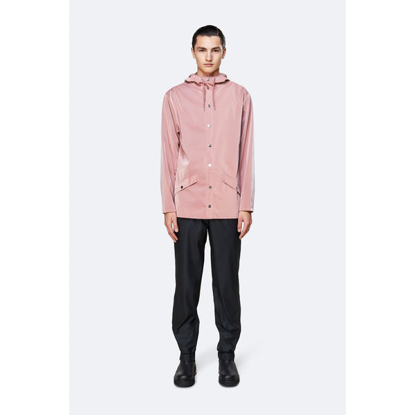 Rains Jacket - Blush Womens Clothing XXS/XS,XS/S,S/M,M/L,L/XL Rains