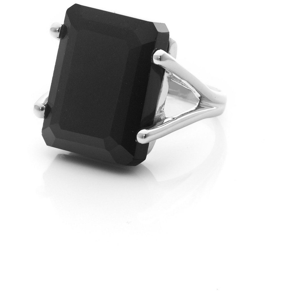 Prima Donna Ring - Black Spinel Rings Medium,Large,Extra Large silk & STEEL