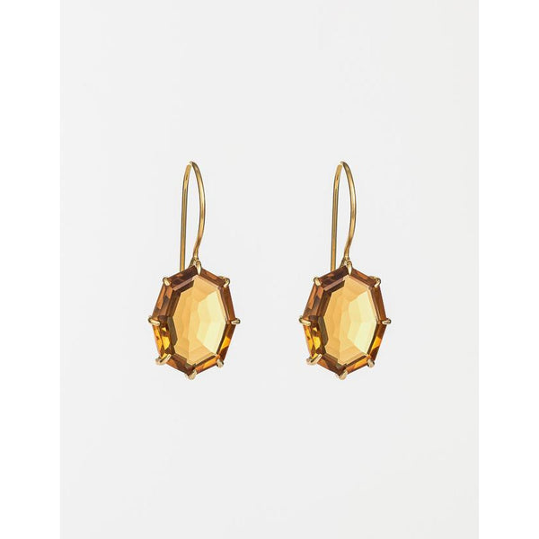 Lucent Saffron Drop Earrings - 2 Colours Earrings Gold Cathy Pope