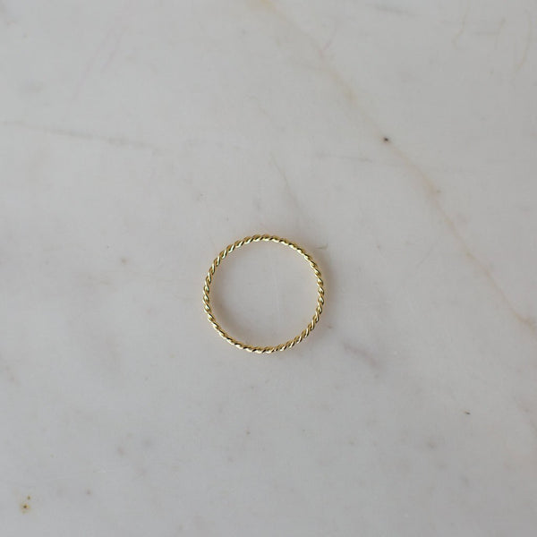Twist Band Ring - 2 Colours Rings Gold / S,Gold / M,Gold / L S O P H IE