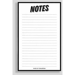 Made of Tomorrow Notes Notepad
