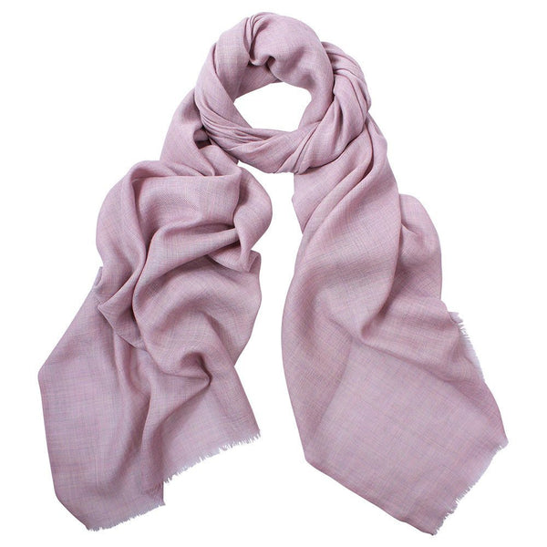 Simone Wool Silk Scarf Dusty Pink