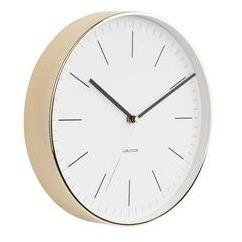 Minimal Wall Clock with Gold Rim