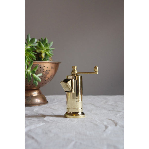 Brass Chefs Pepper Mill, Alexander Mills Brass Pepper Mill
