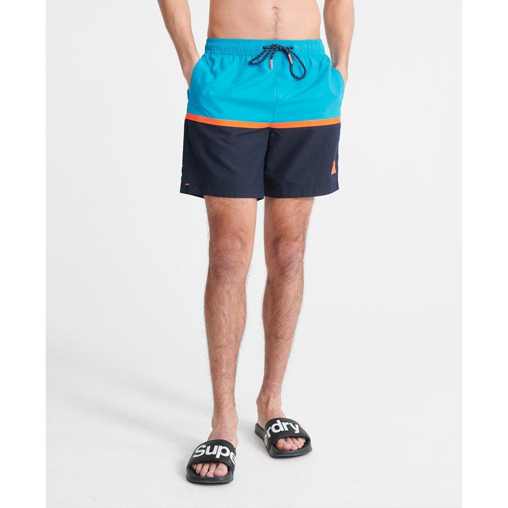 Colour Block Swim Shorts - Hawaiian Ocean Mens Pants + Shorts L,XL,2XL SuperDry