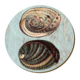 Cork Backed Round Placemat - Coast Series - 2 Designs Table Linen Paua Wolfkamp & Stone