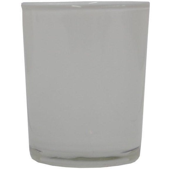 Glass Tealight Holder White