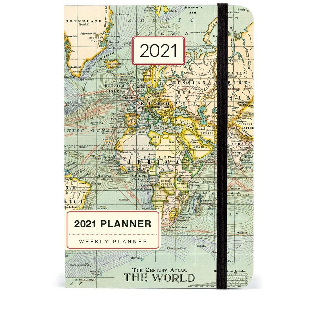 Vintage Map 2021 Year Planner Calendars + Diaries Default Title Cavallini & Co