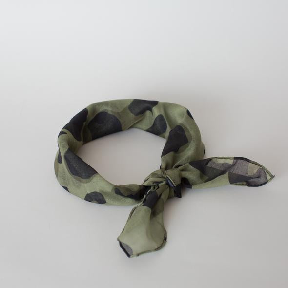 Sophie Store Wild Mini Scarf Olive