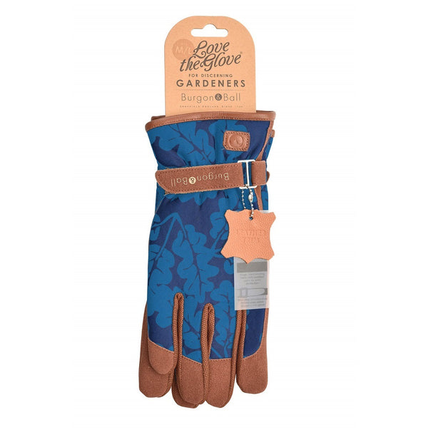 Love the Glove - Gardening Gloves - Oak Leaf - 2 Colours Garden Tools + Planters S/M / Oak Leaf -  Navy,M/L / Oak Leaf -  Navy Burgon & Ball