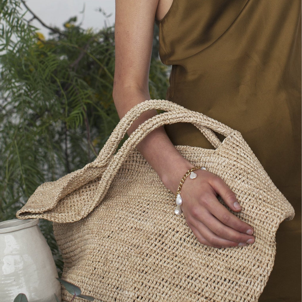 Raffia Beach Bag Bags + Wallets Default Title Brie Leon