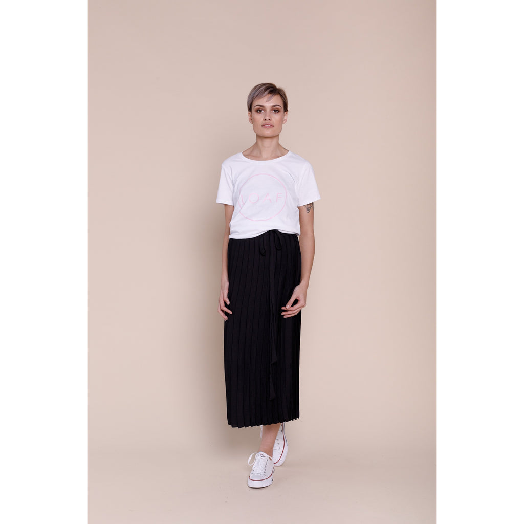 Loaf & Coco Forrester Black Pleated Skirt