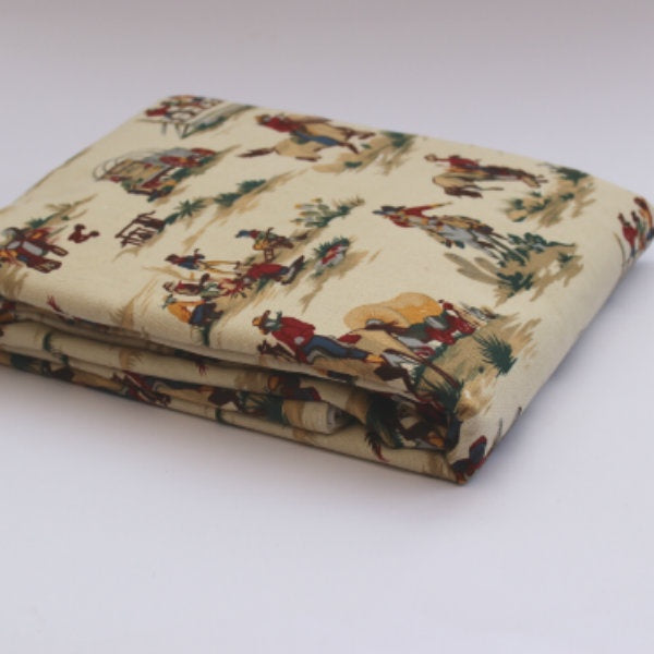 Cowboy Duvet Cover Set - Single, NZ made bed linen, cotton bed linen