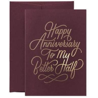 Card - Happy Anniversary to My Better Half