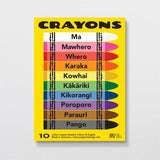 Wax Crayons Glenn Jones Made in NZ Kiwiana Gift TeReo Maori