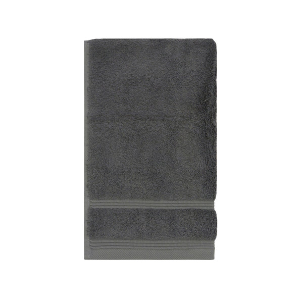 Linens & More Bamboo & Cotton Guest Handtowels Charcoal