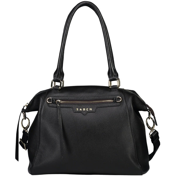 Saben Black Leather Gita Bag