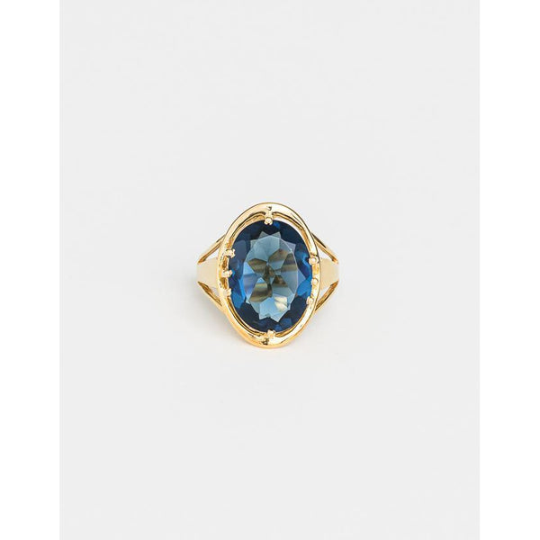 Lucent Indigo Ring - Gold Rings S,M,L Cathy Pope
