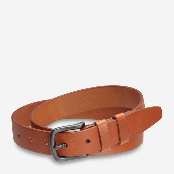 Status Anxiety Citizen Belt, Mens Tan Leather Belt, Status Anxiety NZ Stockist