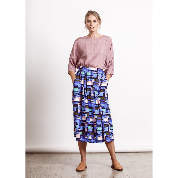 Sapphire Skirt - Multi Womens Clothing 8,10,12,14 Dalston