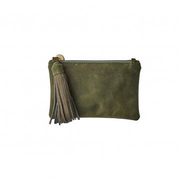 Vash Chloe Olive Clutch Bag