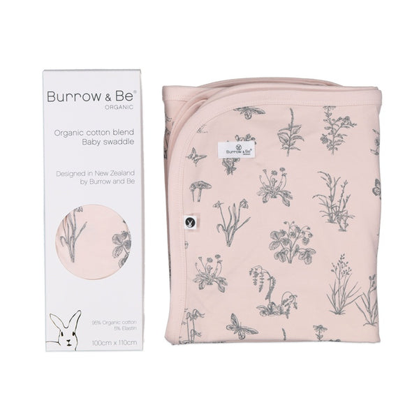 Burrow & Be Organic Cotton Blend Baby Swaddle, Organic Baby Swaddle, Burrow & Be Stockists