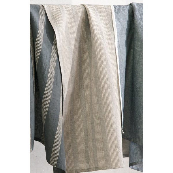 Taupe Stripe Tea Towel