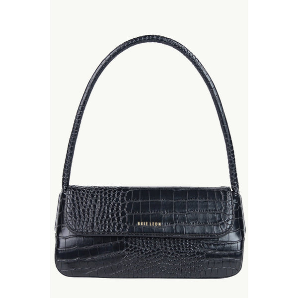 The Camille Bag - Matte Black Croc Bags + Wallets Default Title Brie Leon