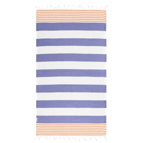 Hammamas Turkish Towel Reef Iris/Orange