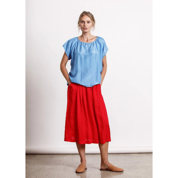 Camille Top - Sky Womens Clothing 8,10,12,14 Dalston