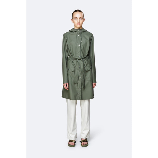 Rains Curve Jacket - Olive Womens Clothing XXS/XS,XS/S,S/M,M/L,L/XL Rains