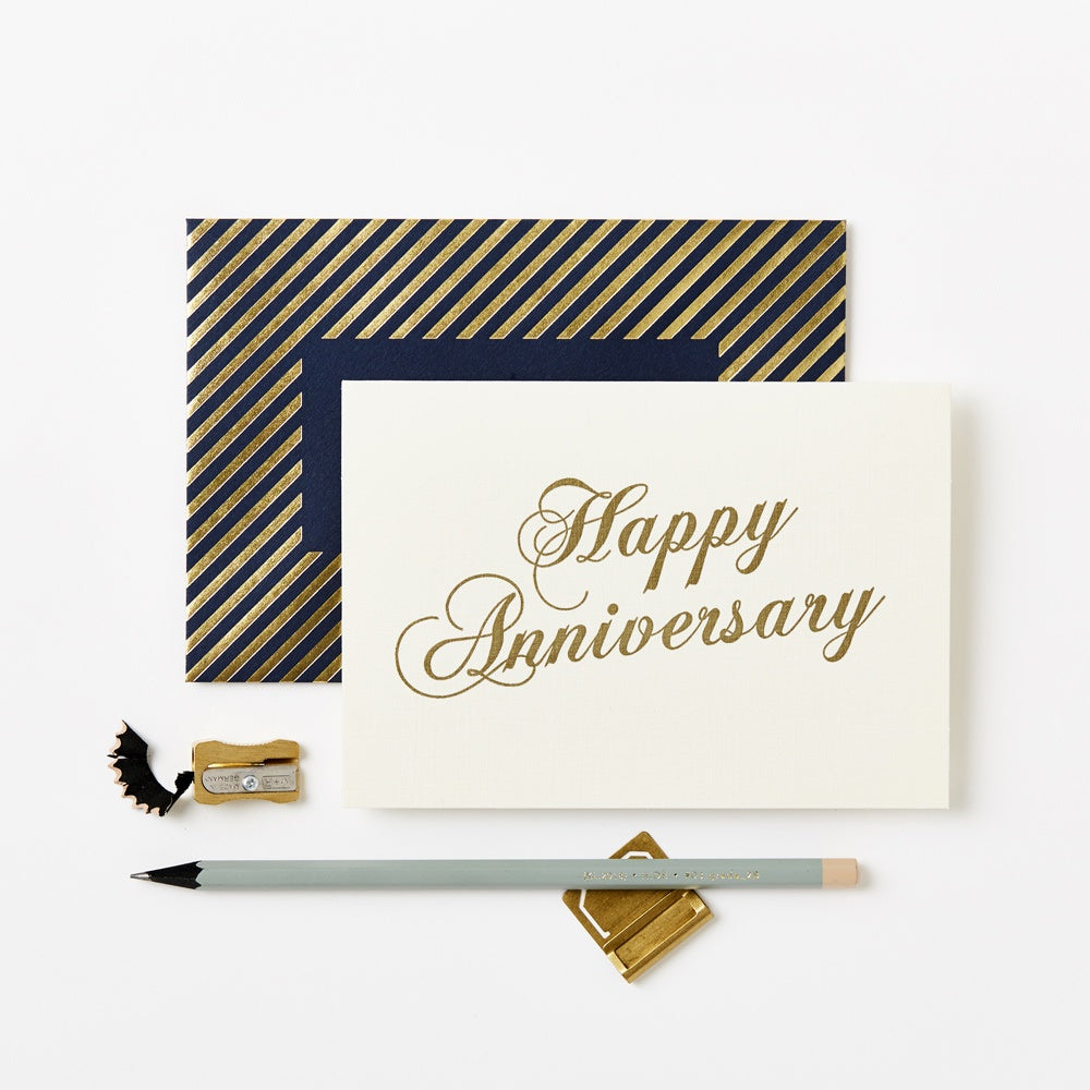 Happy Anniversary Gold Scroll Cards Default Title Katie Leamon