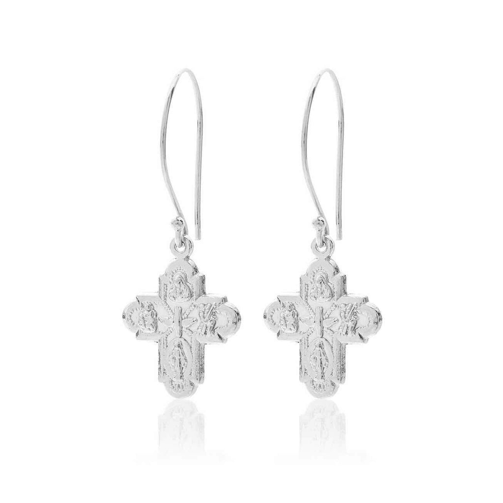 Super Cross Earrings - 2 Colours Earrings Silver silk & STEEL