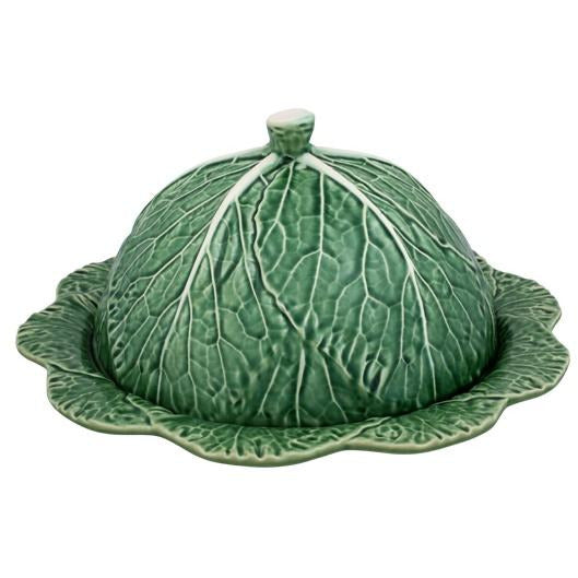 Cabbage Domed Cheese Tray - Natural Serveware Default Title Bordallo Pinheiro