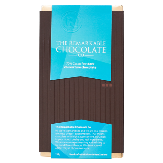 Chocolate Bar | 70% Cacao Fine Dark Larder Default Title The Remarkable Chocolate Co