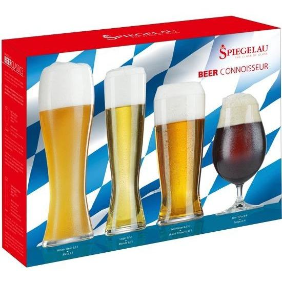 Spiegelau Beer Classic Connisseur Set of 4 Glasses