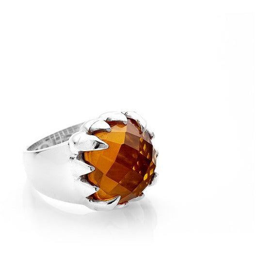 Claw Ring - Citrine + Silver Rings S,M,L Stolen Girlfriends Club