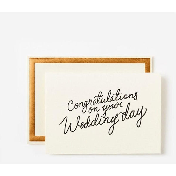 Card - Congratulations on your Wedding Day
